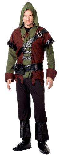spass42 4 TLG. Herren Kostüm Robin Hood Mittelalter König der Diebe Wald Räuber Jäger Bogenschütze Karneval Groesse: L/XL