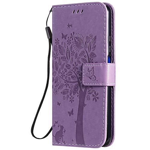 Jeewi Hülle für Huawei Honor 20Pro Hülle Handyhülle [Standfunktion] [Kartenfach] [Magnetverschluss] Tasche Etui Schutzhülle lederhülle klapphülle für Huawei Honor 20 Pro - JEKT020796 Lila