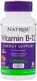 Vitamina B12 5000mcg 100tbs Natrol Sublingual - Imp. Eua