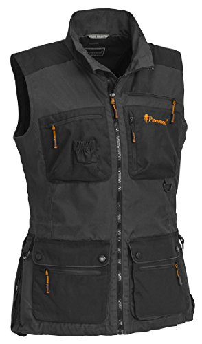 Pinewood New Dog Sports Damen Weste, Mid Anthrazit/Schwarz, L