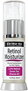 Retinol Face Cream Daily Moisturizer - Anti-Aging Night & Day - Fight Fine Lines and Prevent Wrinkles - Eczema - Organic Vitamin A, E, B5, Green Tea, Aloe Vera, Jojoba Oil