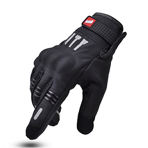 Madbike - Guantes para motocicletas para pantalla táctil, color palm without hole, tamaño Medium