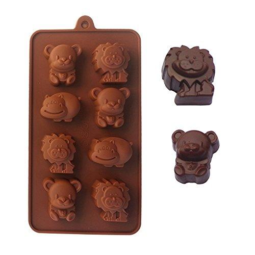LEAMALLS 2 Moldes de Silicona Forma Utensilios de repostería para Caramelos gelatina...