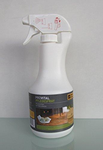PROVITAL Pflegespray. 500ml Weitzer Parkett Parkettpflegemittel inkl. Auftragstücher Set