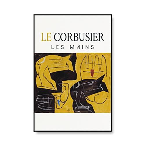 Cartel de la exposición de Le Corbusier, arte francés, museo abstracto retro, impresiones, mural moderno medieval, pintura en lienzo sin marco, A3 40x60cm
