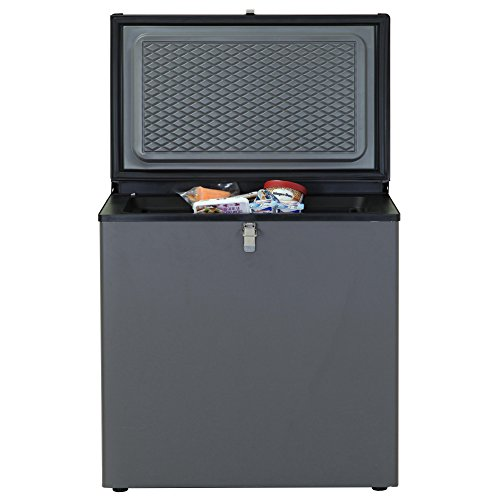 SMETA Propane Chest Freezer 3 Way Refrigerator Freezer Electric LPG AC/DC Propane Gas Absorption Compact Silent Freezer Off Grid 2.4 Cu Ft, Black