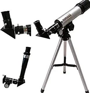 Hetkrishi 90X Astronomical Refractor Telescope Optical Glass Metal Tube with Tripod