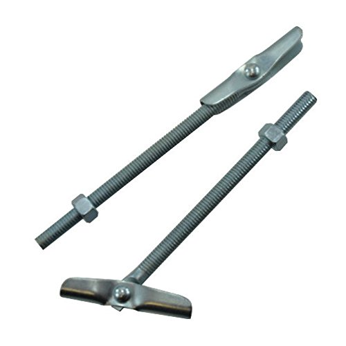 3/8'-16 X 6' Zinc Plated Tumble Toggle Bolts w/Hex Nuts (Box of 25)