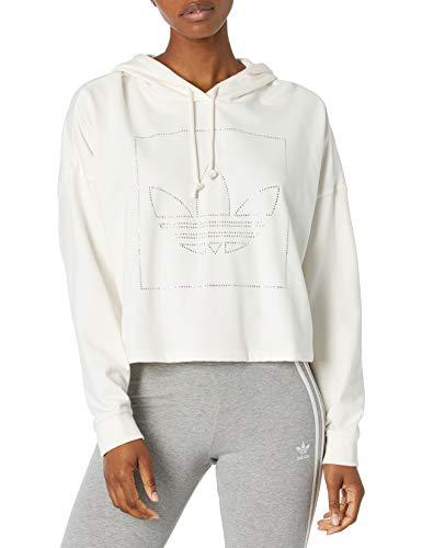 adidas Originals Women's Crop Hoodie Chalk White Small