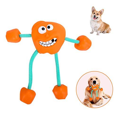 EKKONG Hunde Kauspielzeug-hundespielzeug unzerstörbar-hundespielzeug quitschend-Naturkautschuk zur Zahnungshilfe – Kauen,für kleine Und Mittlere Hunde Hundespielzeug