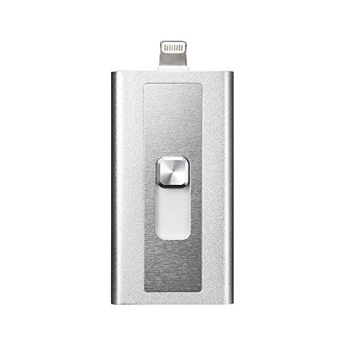 『サンワダイレクト iPhone iPad 対応 microSDカードリーダー Lightning / USB MFi認証 400-ADRIP08S』のトップ画像