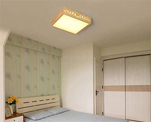 Creatieve eenvoud binnenverlichting, moderne minimalistische woonkamerlamp, slaapkamerlamp, vierkante led-plafondlamp, Japanse verlichting, warmwit licht, JTD Warmes Weißes Licht