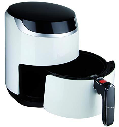Improve IMPFR69B Friggitrice ad aria 3,2L display digitale LED 1500W, non necessita olio per friggere, 8 programmi di cottura, termostato regolabile 80°C-200°C, timer 60 minuti