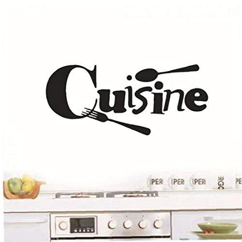 Casecover Cuisine Française Autocollant Vinyle Stickers Muraux Papier Peint Papier Mural Art Cuisine Applique Murale Décoration D'intérieur Maison Décoration 1 Set