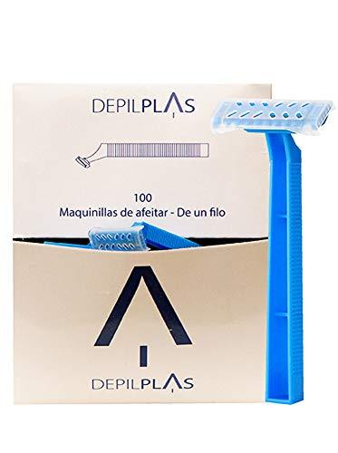 DepilPlas Maquinillas de Afeitar Desechables de Una Hoja 100