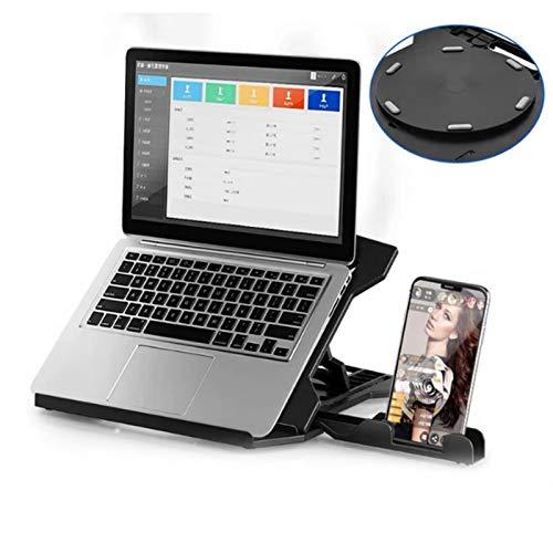 Wsaman Ventilado Ordenador Independiente Proteger su Columna Cervical, Laptop Stand Ajustable para Escritorio, para portátiles de hasta 17' disipador de Calor portátil,Negro