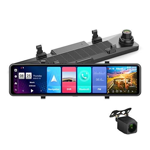 ShiZhen 2021 Upgrade RAM4GB ROM32GB 12 inch Full Screen 4G Touch IPS Car Dash Cam Rear View Android 8.1 Mirror with WiFi GPS Navi Bluetooth Music Dual Lens FHD 1080P