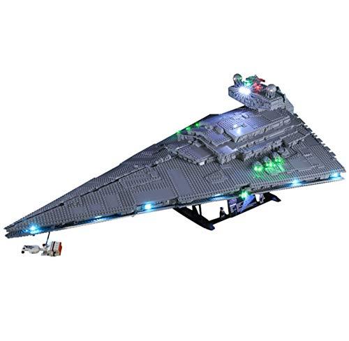 QZPM Licht-Set Mit Einer Fernbedienung Für (Star Wars Imperialer Sternzerstörer) Modell, LED Licht-Set Kompatibel Mit Lego 75252(Modell Nicht Enthalten)