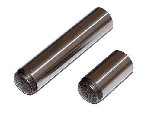Zylinderstifte 2,5x12 DIN 6325 EN ISO 8734 Toleranz m6 Stahl gehärtet Stückzahl 20 Paßstifte Passstifte Fixierstifte Bolzen
