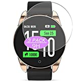 [3 Pack] Synvy Tempered Glass Screen Protector, Compatible with GOKOO M12 1.3' Smartwatch Smart watch 9H Film Protectors