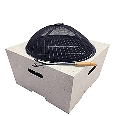 Fire Pit Wood-Burning fire Pit, Bonfire Wood-Burning Terrace and Backyard fire Pit, Used for Outdoor Cooking Grill by Lijack