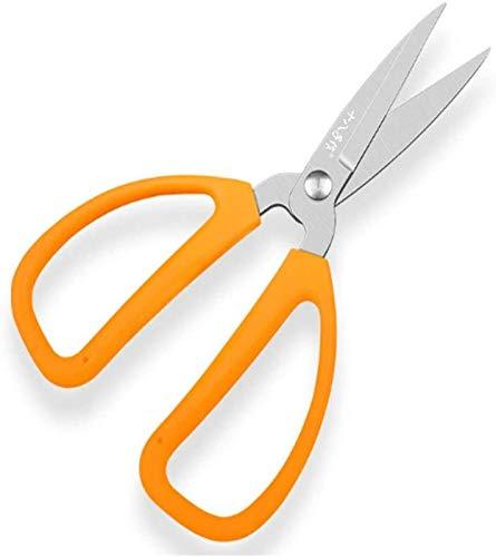 GJNVBDZSF Ciseaux de Cuisine, Ciseaux de Cuisine Multifonctions, Ciseaux de Tailleur industriels ménagers, Ciseaux de Bureau découpés en Papier, Orange