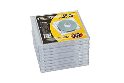 Fellowes Jewel Case Leerhüllen 10er Packung transparent
