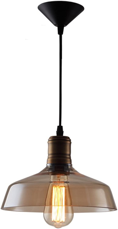Pointhx 9,65 Zoll American grau Glass Pendelleuchten Einzigartige Edison E27 Single Head Kronleuchter Deckenbeleuchtung Schlafzimmer Wohnzimmer Esszimmer Korridor Indoor Anhnger Hngelampe