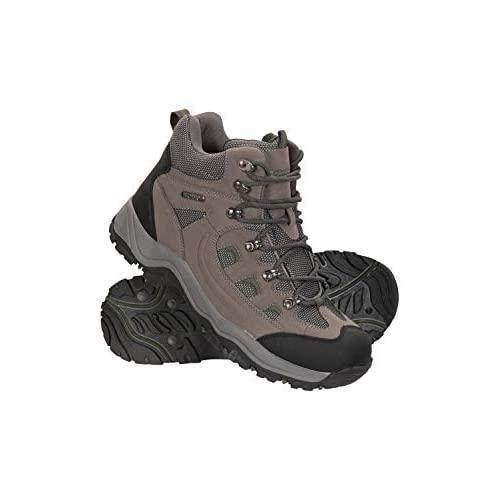 Mountain Warehouse Adventurer Mens Boots – Waterproof Rain Boots, Synthetic & Textile Walking Shoes, Added Grip Mens All…