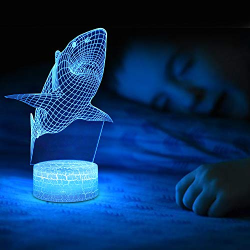 Product Image 4: Shark 3D Optical Illusion Lamp, 3D Night Light for Kids, Shark Toys for Boys, Gifts Boys Age 10 4 7 11 9 8 6