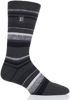 Heat Holders Ultra Lite Thermal Dress Socks (Goldcrest Charcoal Stripe) UK 6-11 US 7-12