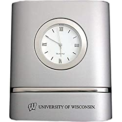 LXG, Inc. University of Wisconsin–Madison- Two-Toned Desk Clock -Silver