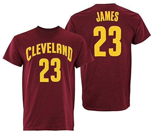 Adidas NBA - Camiseta de manga corta para hombre, Atlético, XXL, Cleveland Cavaliers- LeBron James