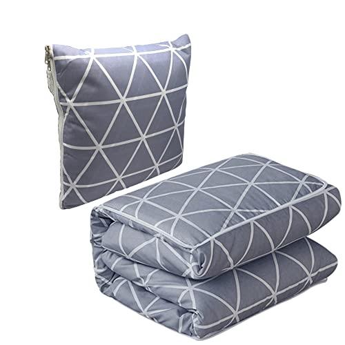 Trendcool Coperta per divano, piccola coperta per divano, 100 x 145 cm, si trasforma in cuscino 40 x 40 cm, copriletto e coperte, per divano decorativo.