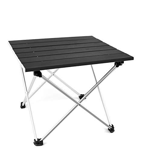 T-Buy Aluminium Picknicktisch Tragbarer Camp Tisch,Klappbarer Campingtisch,Tragbarer Kompakter Und Klappbarer Picknicktisch Für Picknick Garten Patio Strand Angeln Wandern Catering BBQ
