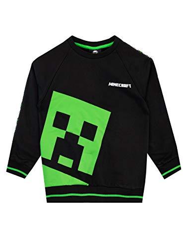 Minecraft Jungen Creeper Sweatshirt Schwarz 134