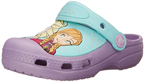 crocs Girls' CC Frozen Clog (Toddler/Little Kid),Iris,4-5 M US Toddler