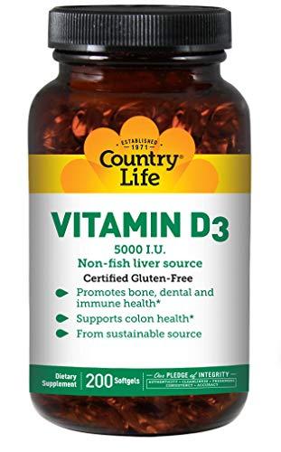 Country Life Vitamin D3 5000 IU 200Softgel