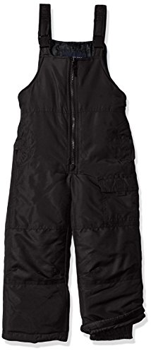 LONDON FOG Boys' Little Classic Heavyweight Snow Bib Ski Pant Snowsuit, Black Night, 7