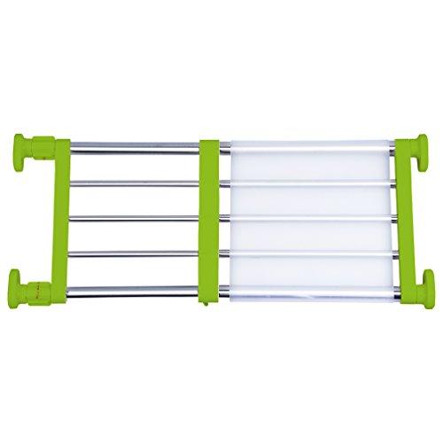 Hershii Schrankspannregal & Stange erweiterbares Metallregal verstellbar Organizer DIY Trennwand für Schrank Kleiderschrank Schrank Küche Badezimmer – Grün