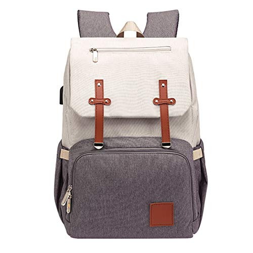 Heshan Fashion Diaper Bag Mommy Maternity Nappy Bag Large Capacity Travel Backpack Nursing Bag for Baby Care