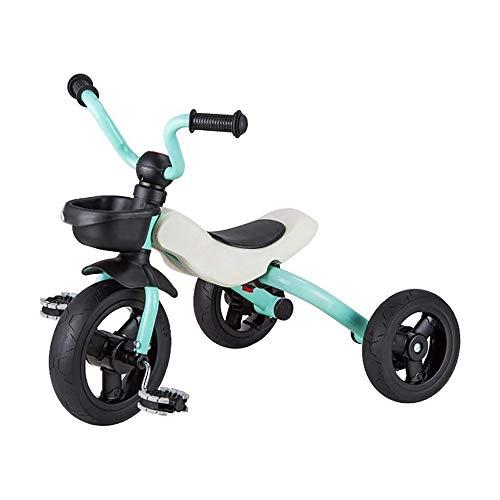 HYDDG Niños Plegable Niño Triciclo Bicicleta Infantil Carretilla 3-6 años Antiguo Bebé Bicicleta Bebé Carro Ligero Fácil Manejo para Viajar,Azul