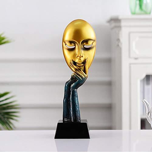 WHSS decoraciones para el hogar Resina nórdica adornos abstracto máscara facial accesorios para el hogar sala de TV gabinete modelo habitación tienda de ropa artesanía