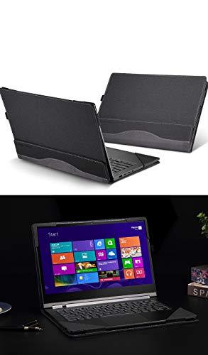 For Lenovo Yoga C930 / 920/910 / 900 Case, PU Leather Detachable Protective Laptop Cover for Yoga 7 Pro/Yoga 6 Pro/Yoga 5 Pro/Yoga 4 Pro Sleeve (For Yoga C930 / 920/910 / 900, deep grey)