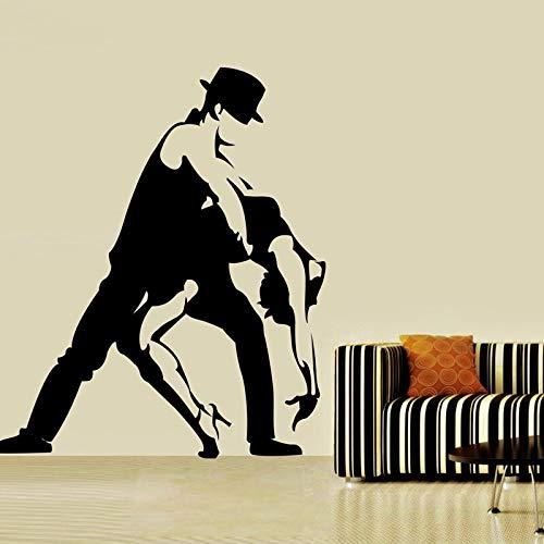yaonuli Männer und Frauen tanzen Wandaufkleber Hauptdekoration Wohnzimmer Schlafzimmerdekoration Tanzraum Wandaufkleber 56X62cm