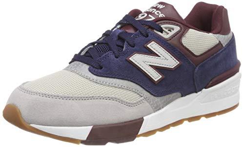 New Balance 597, Zapatillas de Running Hombre, Azul (Rain Cloud/Pigment/NB Burgundy Gnb), 40.5 EU