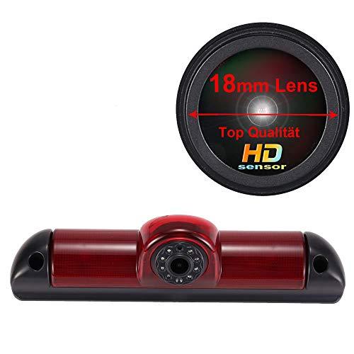 HD IP68 Impermeabile IR Notte viosn colori Retrovisore luce freno Terzo tetto Top Mount Telecamera inversa Angolo regolabile per FIAT Ducato X250/ Peugeot Boxter/Citroen Jumper