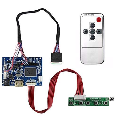 Casinlog Tarjeta controladora HDMI + AV LCD de 15,6 pulgadas B156XW02 LP156WH2 1366 x 768 con cable de control remoto de 40 pines.