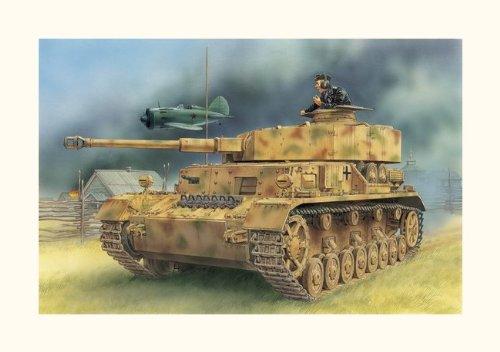 Dickie-Tamiya Dragon 500776330 - Modellino carro Armato Panzer IV, Ausf. D, con Cannone da 7,5 cm, Scala 1:35