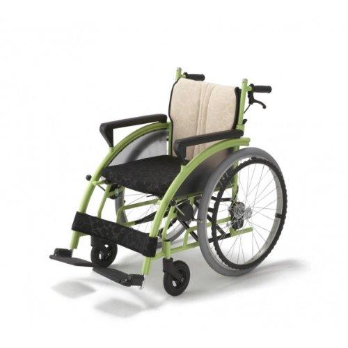 【フランスベッド】車椅子!メーカー直送!Nomocaのもかシリーズ グリーン「自走式」ベー